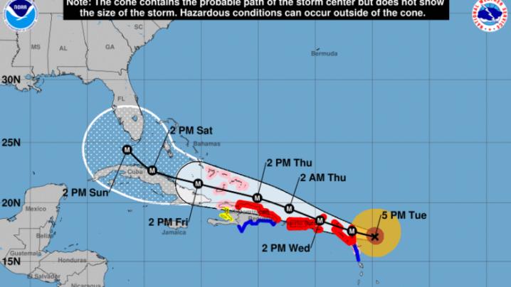 Irma track Sep 5